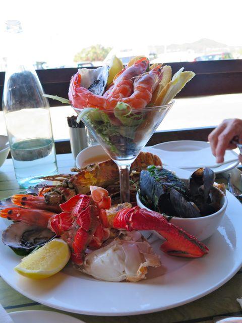 Seafood platter at Byron Bay