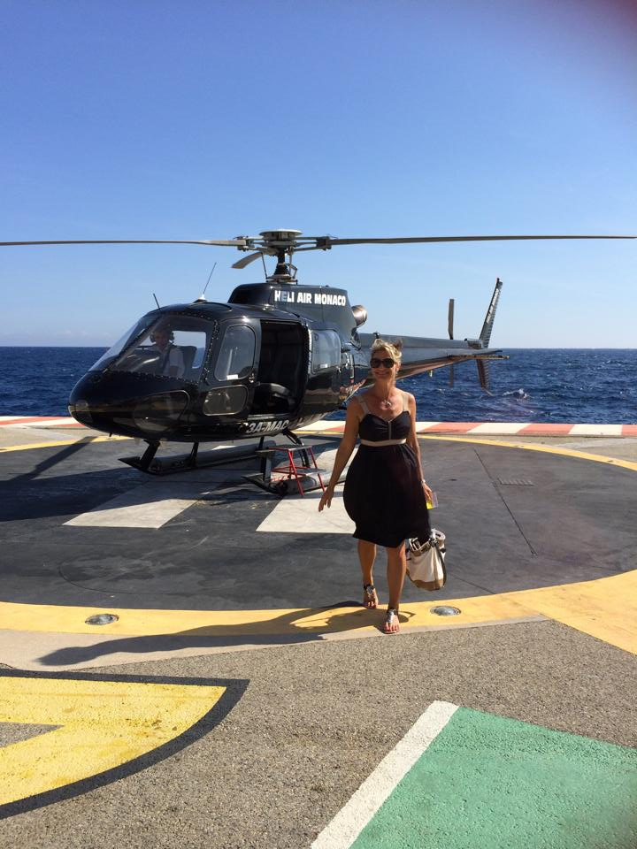 Helicopter ride into Monaco