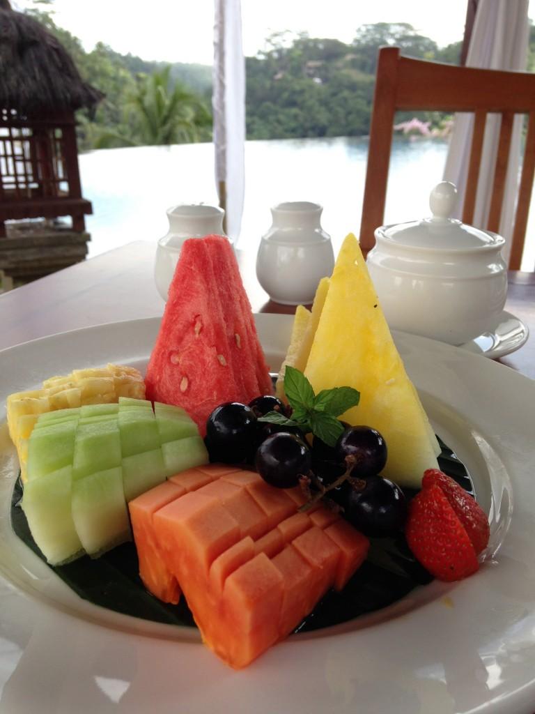 Bali fruit breakfast